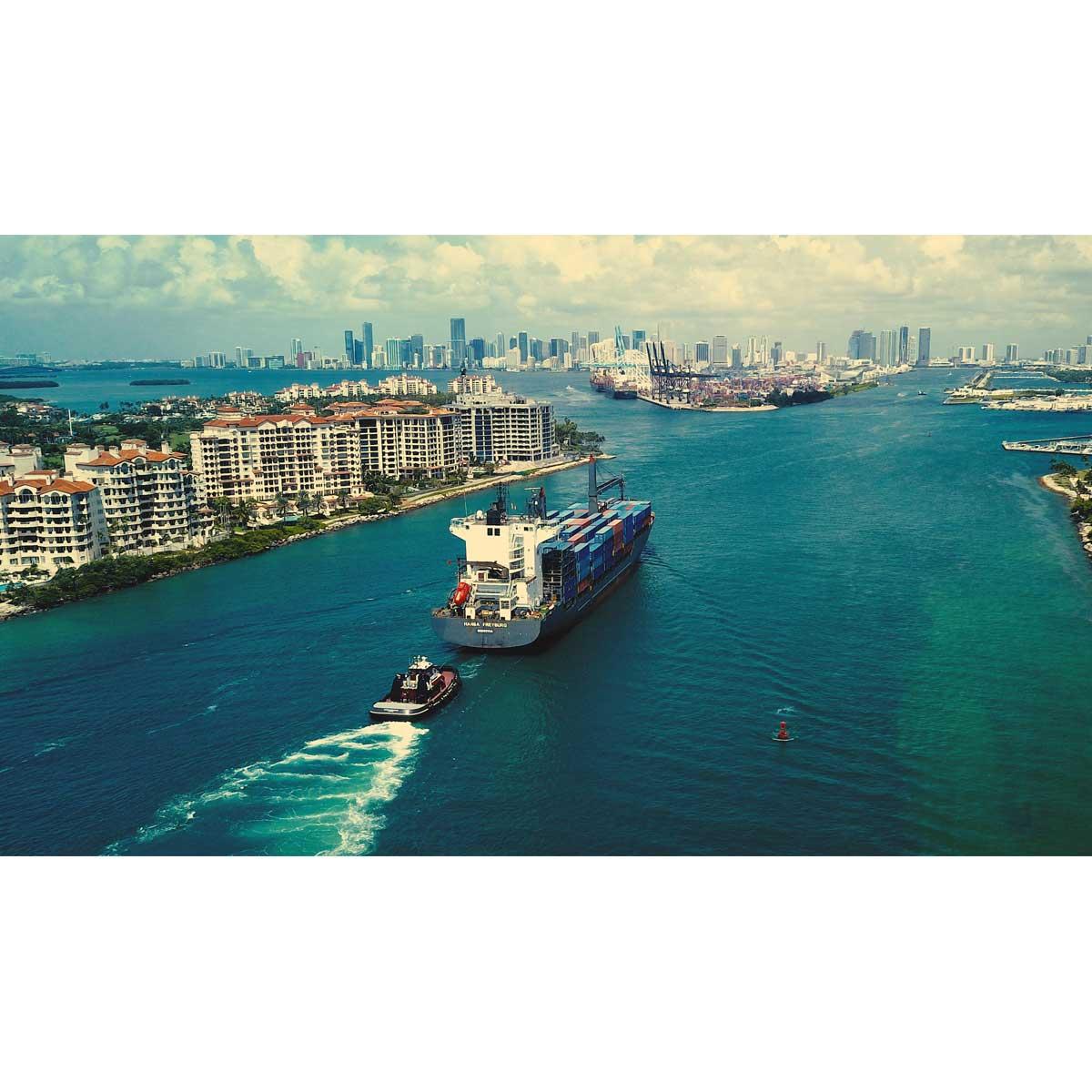 Miami Port: Best Quality Canvas